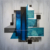 """""""blue and green modern art acrylic painting by Gustav Norberg"""""""
