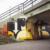 graffitimålad vägg under järnvägsspåren i Svedala