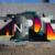 "Colorful geometric graffiti wall by Gustav ""Unir1"" Norberg"