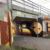 Colorfull graffiti under railway tracks