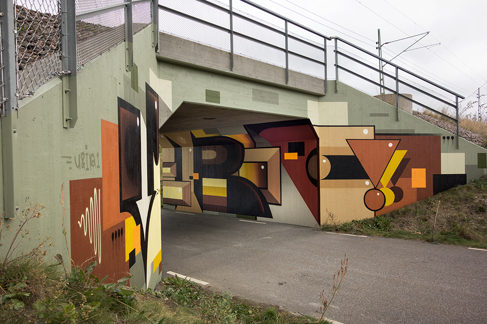 Graffiti painted tunnel  Gustav Norberg